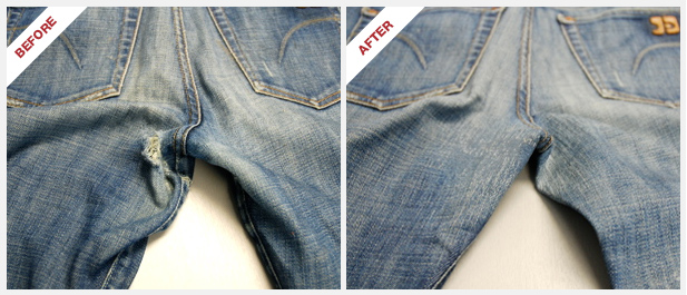 Before and After Denim Therapy