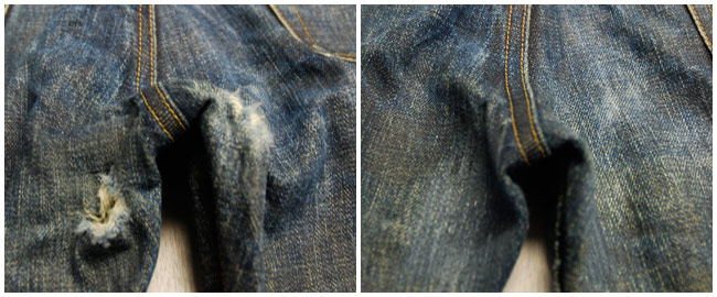 patch hole in jeans crotch