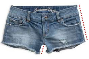 Denim Shorts alterations