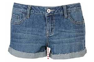 Denim shorts repair