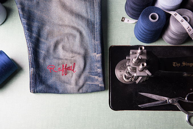Chainstitch embroidery for Denim