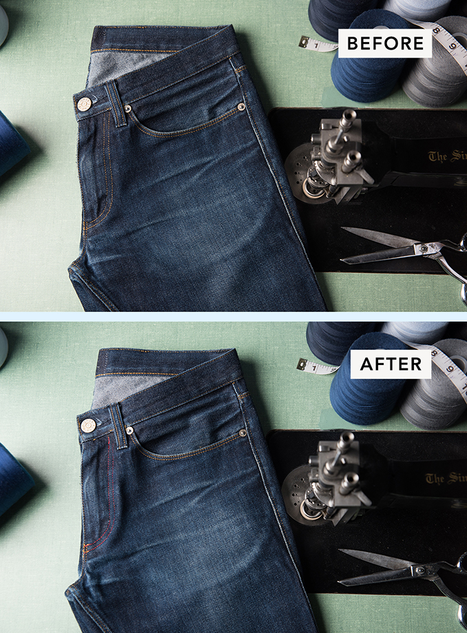 Change Stitching Color for Jeans