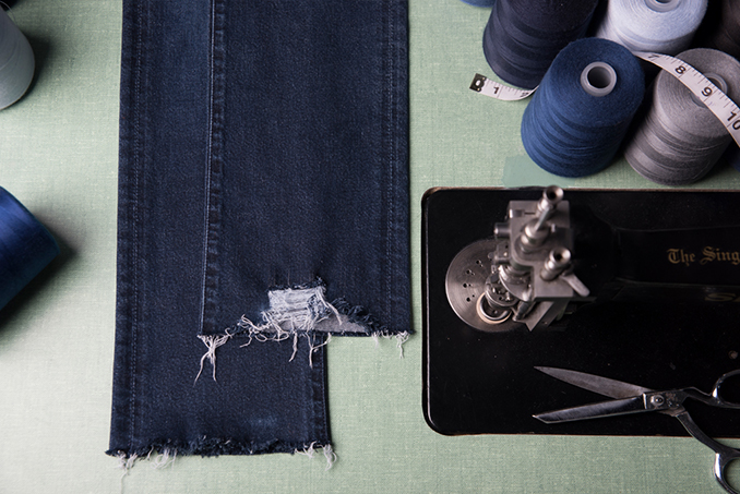 Frayed Hemming for Denim