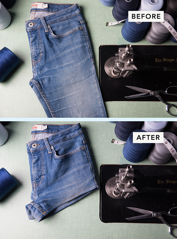 Transform Torn Jeans to Shorts